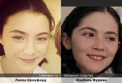 Лилла Кроуфорд и Изабель Фурман