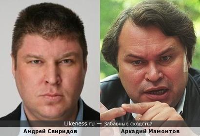 Андрей Свиридов и Аркадий Мамонтов