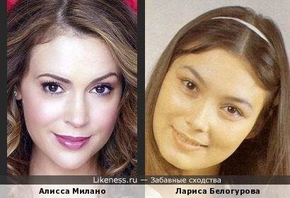 Алисса Милано и Лариса Белогурова