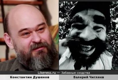 """Константин Душенов и пират из м/ф """"Остров сокровищ"""""""