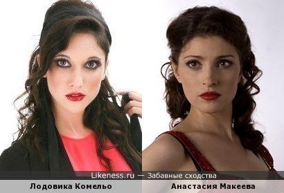Актрисы Лодовика Комельо и Анастасия Макеева