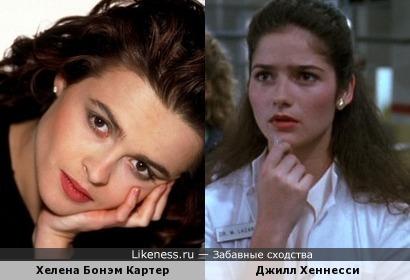 Актрисы Хелена Бонэм Картер и Джилл Хеннесси