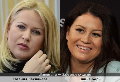 Евгения Васильева и Элина Борн (Евровидение 2015)