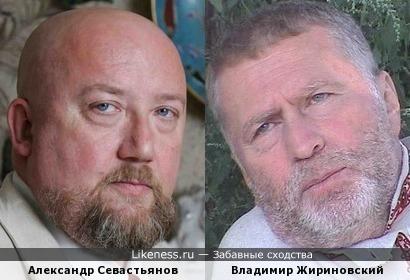 Публицист Александр Севастьянов и Владимир Жириновский