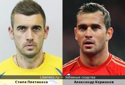 Стипе Плетикоса и Александр Кержаков