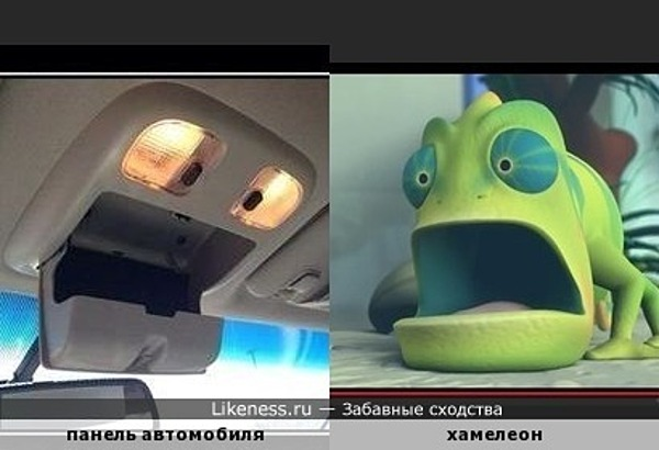 Панель автомобиля напоминает хамелеона