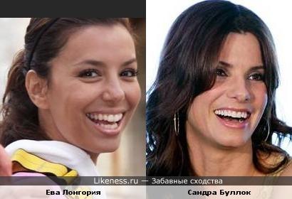 Ева Лонгория похожа на Сандру Балок