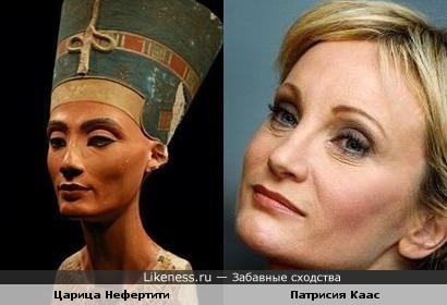 Патрисия Каас похожа на египетскую царицу Нефертити