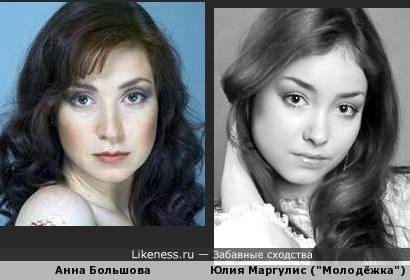 Юлия Маргулис похожа на Анну Болбшову.
