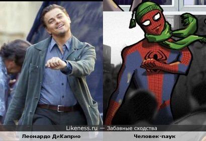 Леонардо ДиКаприо похож на человека-паука