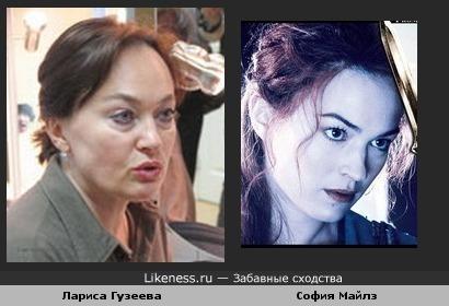 София Майлз похожа на Ларису Гузееву