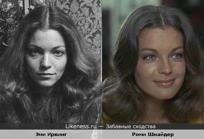 Эми Ирвинг в молодости была похожа на Роми Шнайдер