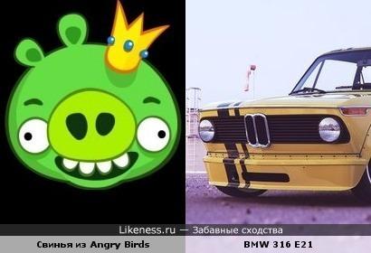 инья из Angry Birds похожа на машину