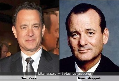 Том Хэнкс похож на Билла Мюррея