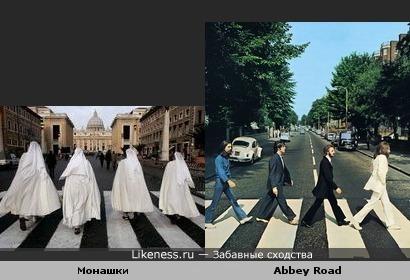 Монашки похожи на The Beatles