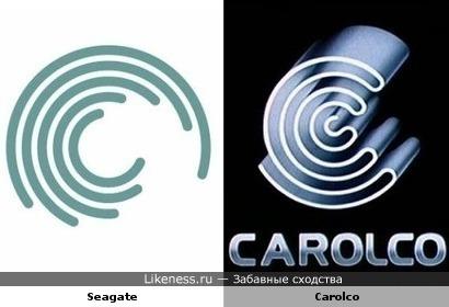 Логотип Seagate похож на логотип Carolco