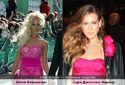 Юлия Ковальчук и Сара Джессика Паркер