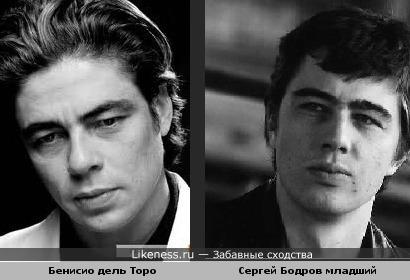 Бенисио дель торо похож на Сергея Бодрова младшего