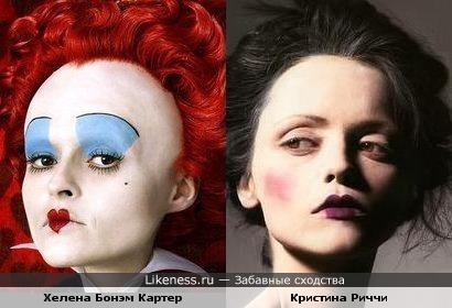 Кристина Риччи в образе похожа на красную королеву