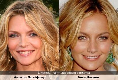 Мишель и Беки похожи как мать и дочь))