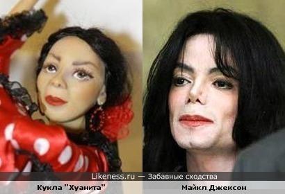 Кукла похожа на Майкла Джексона