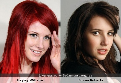 Hayley Williams и Emma Roberts
