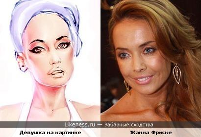 Девушка на картинке похожа на Жанну Фриске