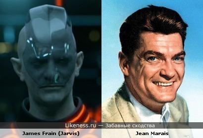 Джеймс Фрейн (в образе) похож на Жана Маре