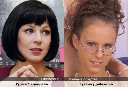 Ирина Медведева и Зузана Драбинова