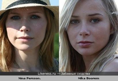 актриса Мика Бурем похожа на Нину Перссон (группа The Cardigans)