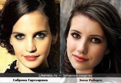 Сабрина Гарсиарена и Эмма робертс