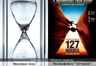 """Постер """"127 часов"""" напомнил мне песочные часы."""