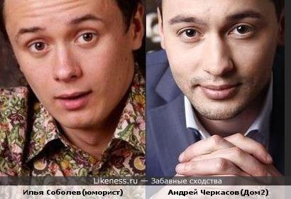 Илья Соболев похож на Андрея Черкасова(Дом2)