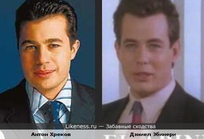 """Антон Хреков (тележурналист) похож на актера Дэниела Эбинери(""""Возвращение в Эдем"""")"""