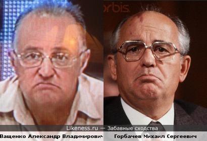 Ващенко Александр Владимирович-доктор филологических наук очень похож на Горбачева М. С.