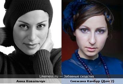Снежана Камбур похожа на Анну Ковальчук