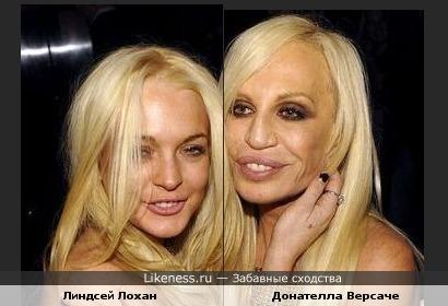 Линдсей Лохан и Донателла Версаче похожи как мать и дочь