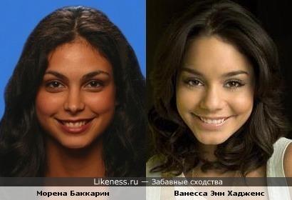 Морена Баккарин и Ванесса Энн Хадженс