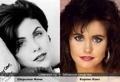 Шерилин Фенн и Кортни Кокс похожи