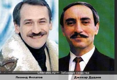 артист Филатов похож на президента Дудаева