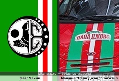 "Логотип на машине пиццерии ""Папа Джонс"