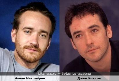 Джон Кьюсак и Мэтью Макфейден