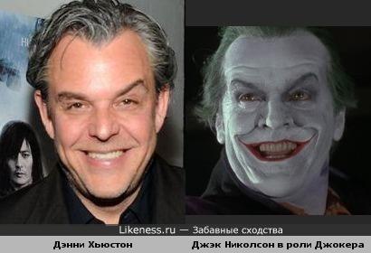 Дэнни Хьюстон и Джэк Николсон в роли Джокера