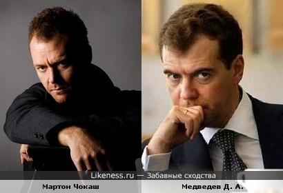 Мартон Чокаш и Д.А, Медведев