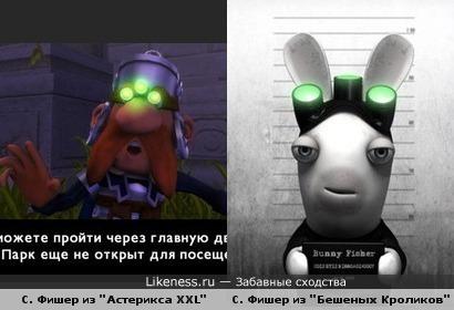 "Splinter Sell размножился! Сэм Фишер появился в играх ""Asterix & Obelix XXL"" и ""Rayman Raving Rabbids"""