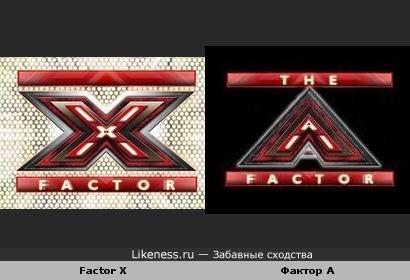 """Логотипы """"Factor X"""" и """"Фактор А"""" одинаковы"""