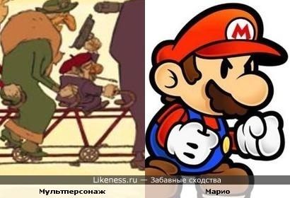 """Мультперсонаж с постера м/ф """"Трио из Бельвиля"""" похож на Марио"""