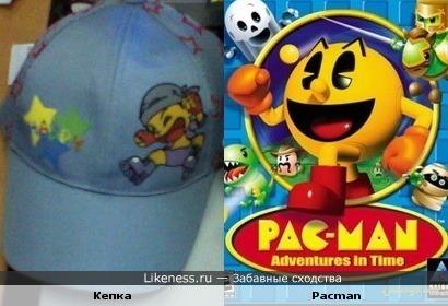 Мальчик на кепке похож на Пэкмена