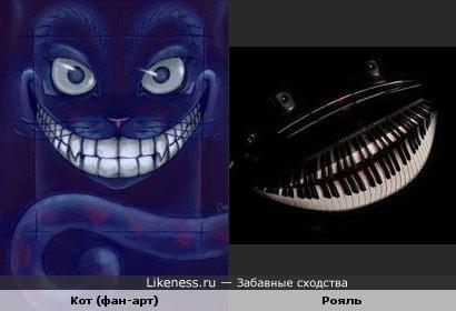 Ещё улыбайки! Кот (фан-арт) и рояль