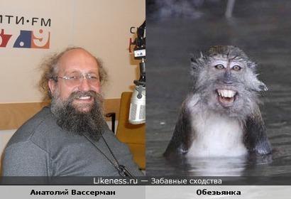 Анатолий Вассерман и обезьянка